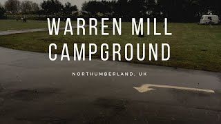 Camping: Waren mill camp site Northumberland UK