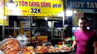 Phát thèm với món Tôm Hùm cháy tỏi (tôm càng xanh tươi sống nướng muối ớt) | saigon travel Guide