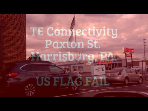TE Connectivity  Paxton St.  Harrisburg PA   US Flag Fail