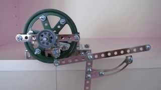 Erector Set Clock Escapement - One-Legged Gravity