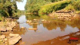 Ловля на приманки Jackall Timon на реках Новгородской области.