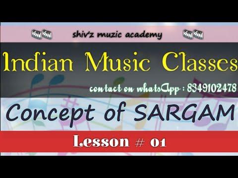 Indian music | Lesson 1 | Concept of sargam