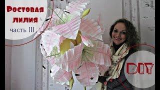 Ростовая ЛИЛИЯ. Видео мастер-класс. Часть 3