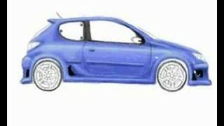Peugeot 206 con el GIMP - Speed Draw - El Nene