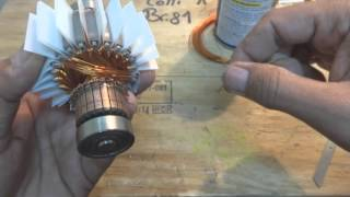 Universal motor rewinding. AC series motor repair. Part 3