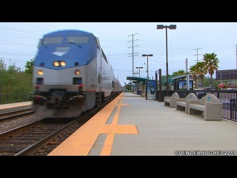 More HIGH SPEED AMTRAK TRAINS @ Sorrento Valley (April 13th, 2013)
