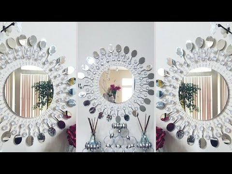 Diy Metal Clip Wall Mirror Decor| Inexpensive Wall Decorating Idea!