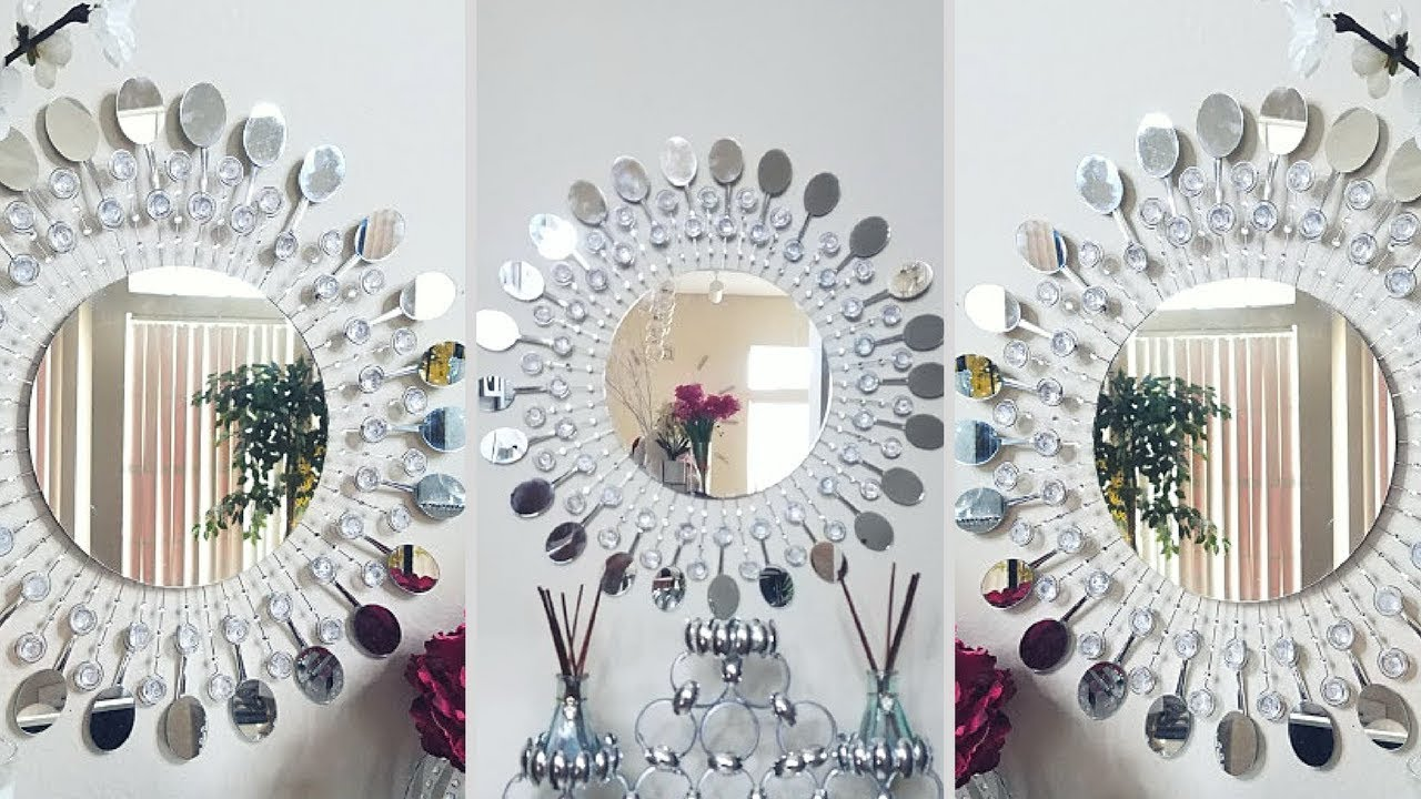 Diy Metal Clip Wall Mirror Decor Inexpensive Wall