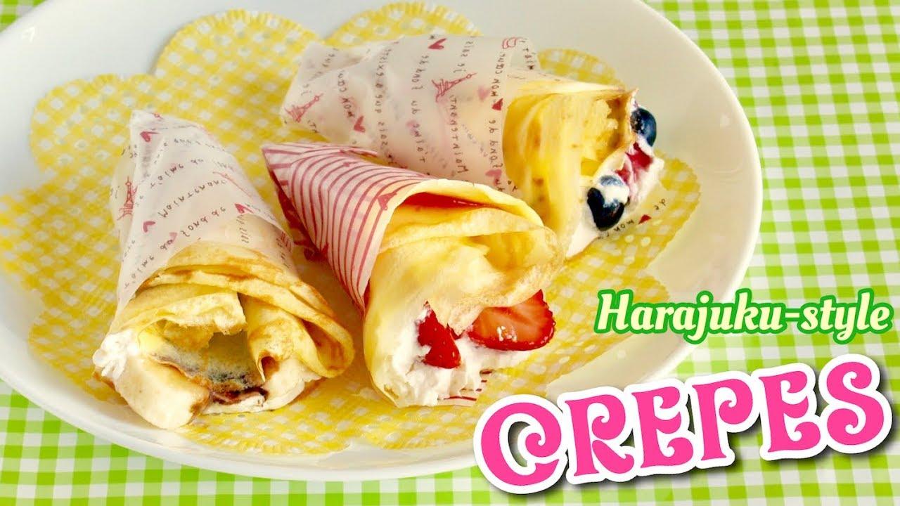 Kawaii Harajuku Crepes Japanese Street Food Recipe Ochikeron Create Eat Happy Youtube