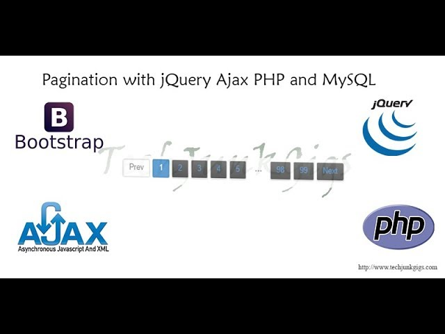 Pagination with jQuery Ajax PHP and MySQL - TechJunkGigs
