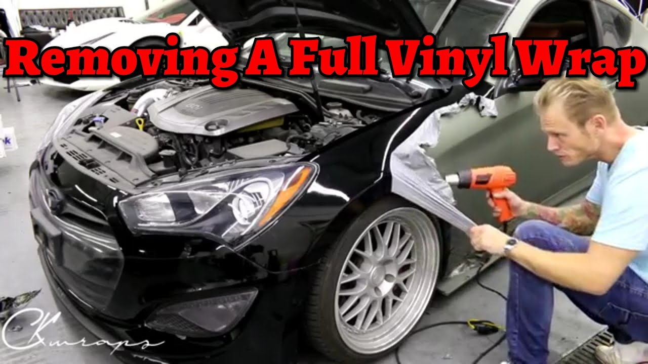 How To Remove A Full Car Vinyl Wrap By Ckwraps Youtube