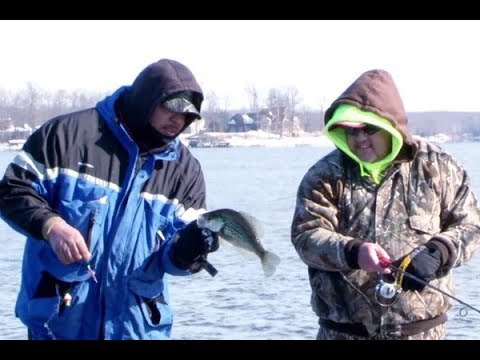 Winter Casting For Black Crappie On Powerplant Lake Of Egypt