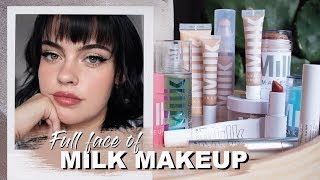 FULL FACE OF MILK MAKEUP + REVIEW | Julia Adams