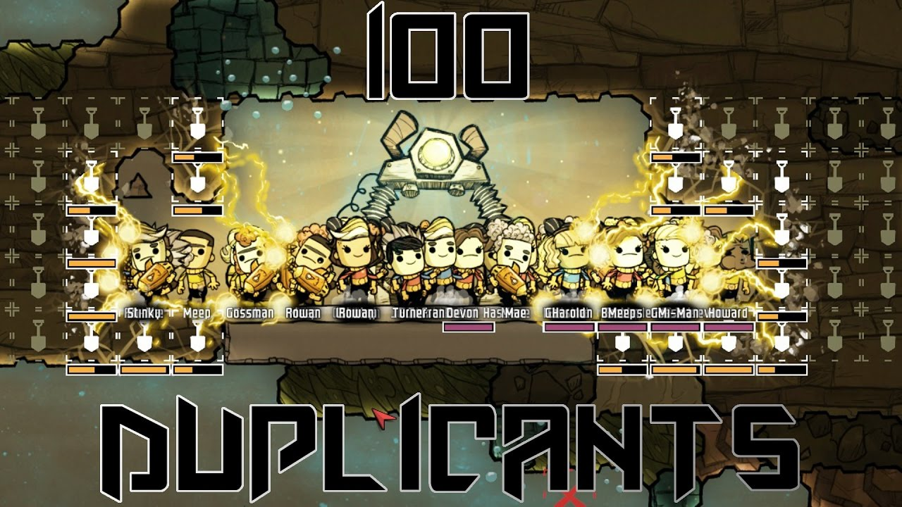 100 DUPLICANTS! - Oxygen Not Included challenge