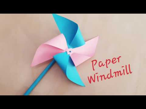 How to make paper Windmill/paper craft ideas/paper pinwheel DIY/hand paper fan/paper craft for schoo