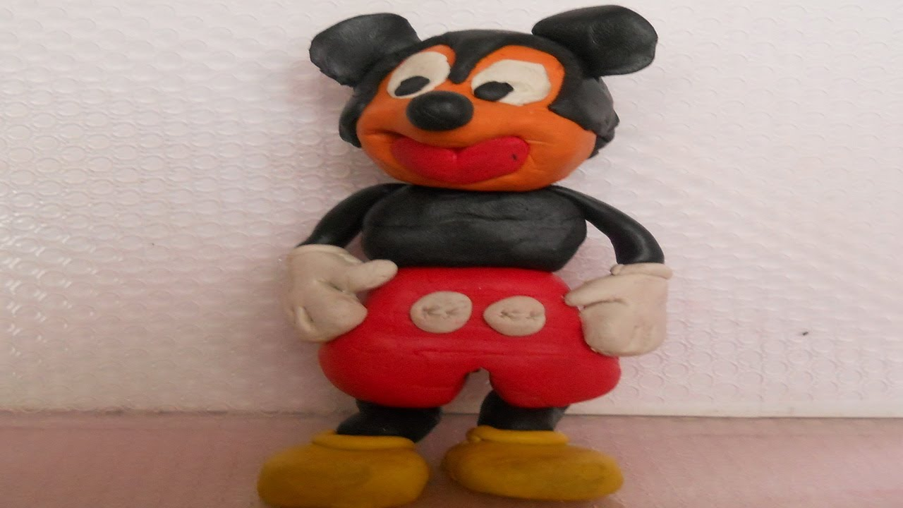 mickey mouse kids play 3d modeling clay how to make mickey mouse