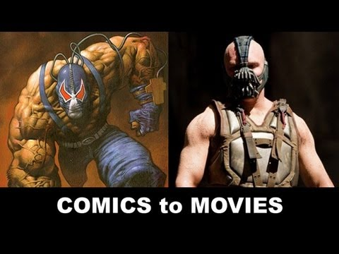 The Dark Knight Rises 2012 - Tom Hardy is Bane! From Comics to Trailer to Movie!