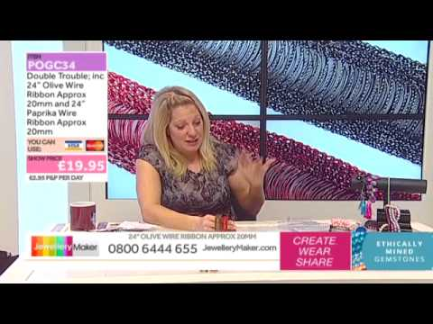 How To Make Jewellery Using Wire Ribbon - JewelleryMaker LIVE (AM) 15/01/2015