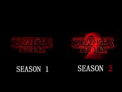 Stranger Things Seasons 1 & 2 Intro Side-By-Side Comparison