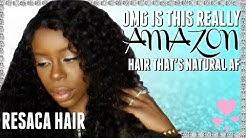 OMG IS THIS REALLY AMAZON HAIR | Uneak Tershai ft. Resaca Hair