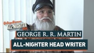Repeat youtube video George R.R. Martin Writes The All-Nighter (All-Nighter 2014)