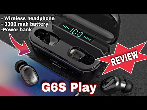 G6S Play Bluetooth Headphone 🎧 | Power Bank 🏦 | Wireless Charging 📱 | 3300 Mah Battery 🔋