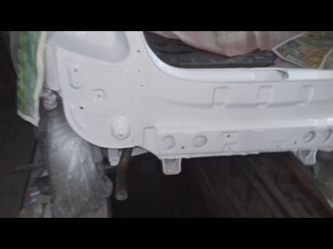 Daewoo Matiz  этапы; шпаклевка,грунтовка,покраска кузова.