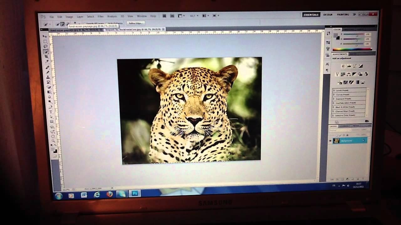 Changer Le Fond D Une Image Avec Photoshop Cs5 Youtube