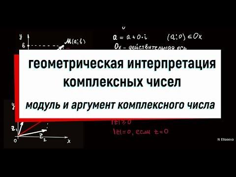 2. Геометрическая интерпретация комплексных чисел. Модуль и аргумент комплексного числа