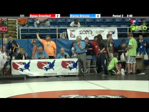 Junior WM 121 - Alyssa Greenleaf (Michigan) vs. Marina Briceno (California)