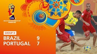 Brazil v Portugal [Highlights] - FIFA Beach Soccer World Cup Paraguay 2019™