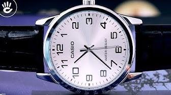 Đồng hồ Casio #19 | Review đồng hồ Casio MTP-V001L-7BUDF đơn giản 3 kim trên mặt số size 38mm