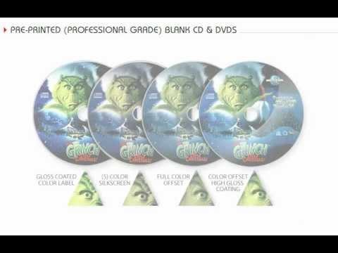 Pre-Printed (Professional Grade) Blank CD & DVDs - Media Technologies