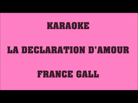 La déclaration d'amour - France Gall - KARAOKE mp3