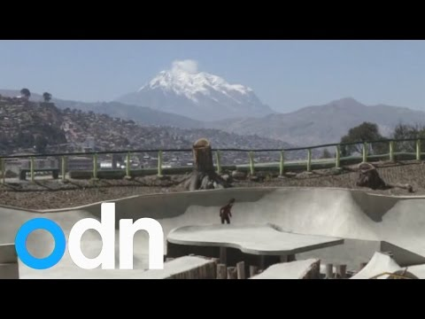 Incredible skatepark opens high in the Andes Mountains