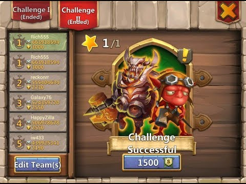 Castle Clash Boss 5 Easy Max Rewards Over 660mil Dmg
