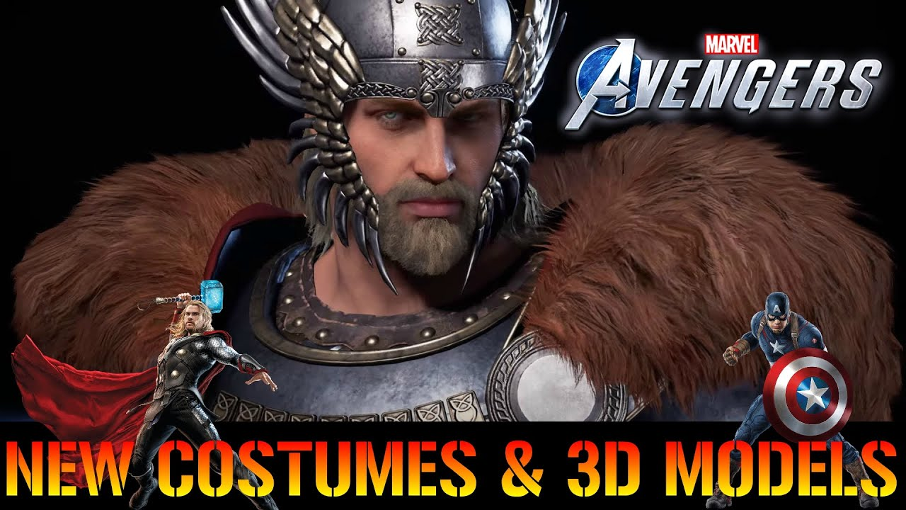 Download Marvels Avengers: NEW Thor & Captain America Costumes & 3D Models LOOK GOOD!