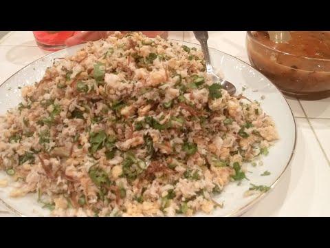 C/w Nana: Lao Steamed Fish Salad (ແໜມປາ == Naem Pa)