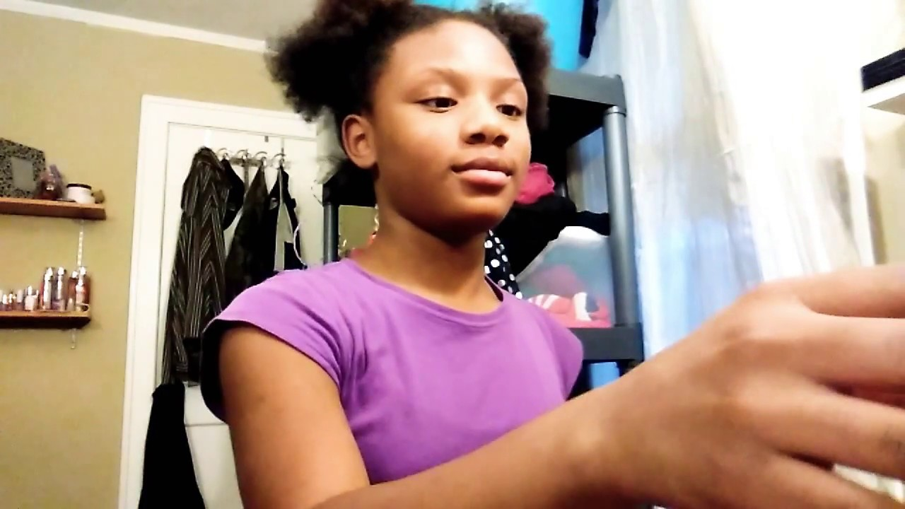 Easy Natural hair style / done by an 10 year old 💗 - YouTube