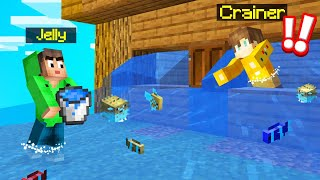 I FLOODED My BEST FRIENDS HOUSE In MINECRAFT! (Troll)