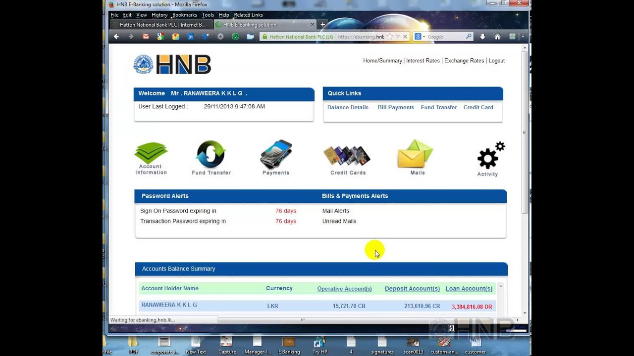 HNB Internet Banking - Payments - YouTube