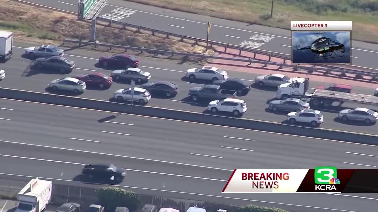 Drivers wait in traffic for hours on Hwy  99 in south Sacramento