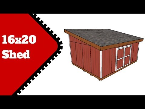 Lean to Shed Plans 16x20