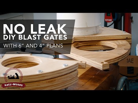 "DIY Dust Collection Blast Gates - -With 6"" and 4"" Plans"