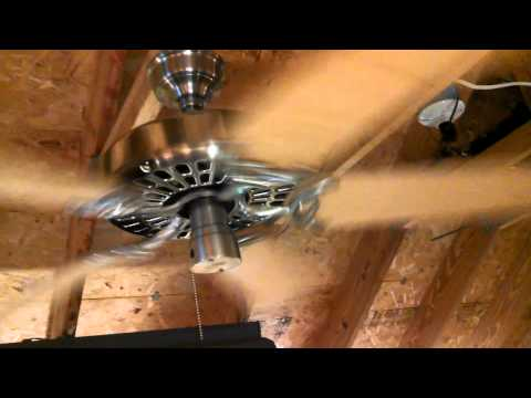 "Hunter ""The Original"" Ceiling Fan model 23853 in brushed nickel"