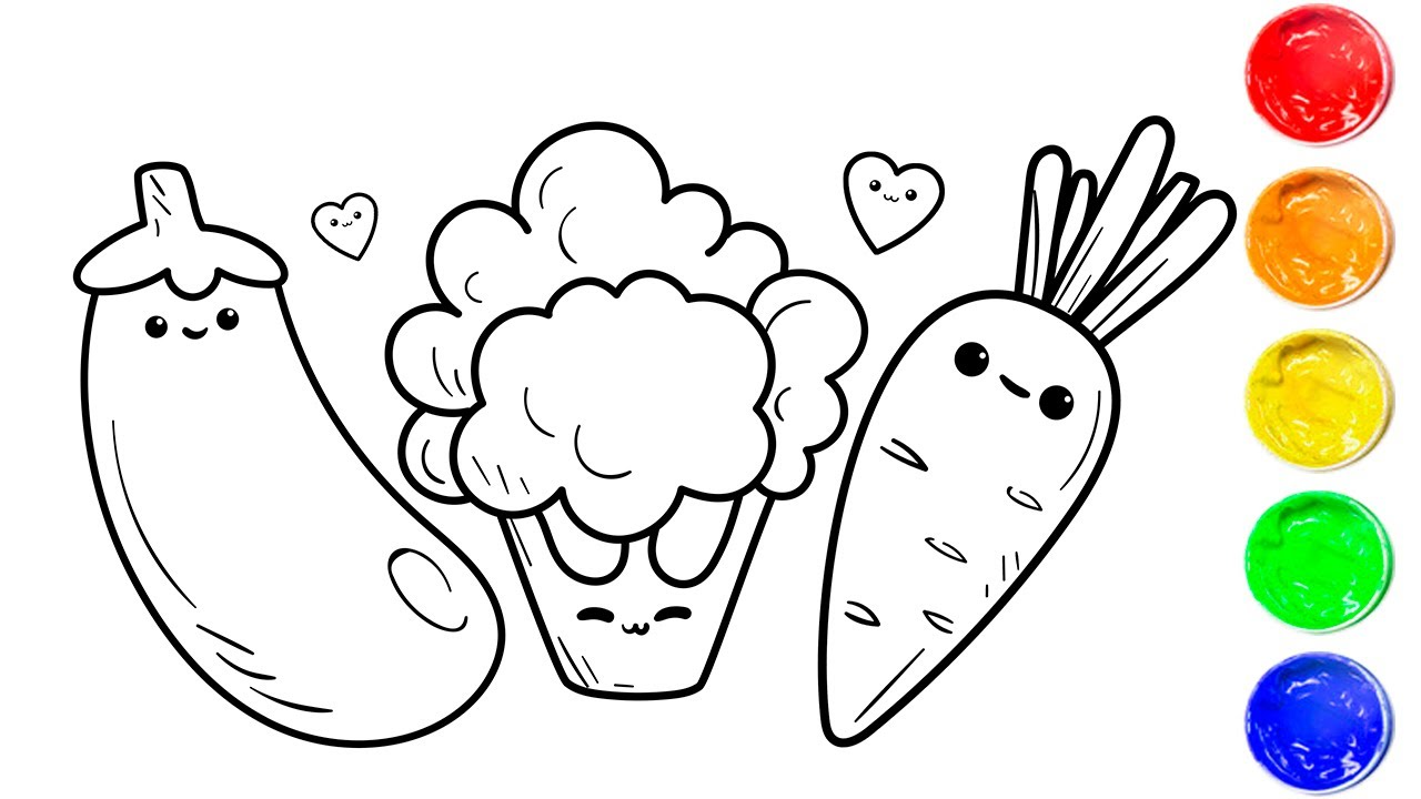 Free Downloadable Veggie Coloring Pages — ESTHER LOOPSTRA | 720x1280