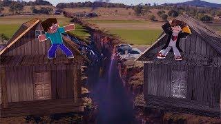 Minecraft: DESAFIO DA BASE 100% SEGURA CONTRA MEGA TERREMOTO ‹ JUAUM ›