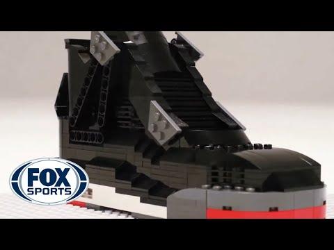 "Air Jordan IV ""BRED"" sneaker built entirely of LEGO's: Fan Made"