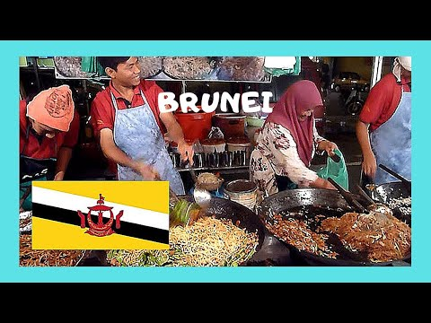BRUNEI, the fascinating and graphic NIGHT FOOD MARKET in GADONG