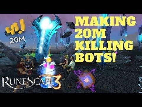 Easy Way I Made 20 Mil Killing Bots, Runescape 3 (2018)